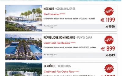 Offres 'Coups de Coeur' RIU Hotels
